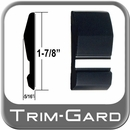 "1-7/8"" Wide Black-Chrome Body Side Molding Sold by the Foot, Trim Gard® # 1002WC-01"