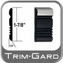 """1-7/8"""" Wide Black-Chrome Body Side Molding Sold by the Foot, Trim Gard® # CV88-02WC-01"""