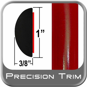 "1"" Wide Absolute Red Camaro Molding Trim 3P0 ( CP16 ), Sold by the Foot, ColorTrim Plastics® # 70-16"