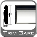 "1"" Wide Black-Chrome Body Side Molding Sold by the Foot, Trim Gard® # PP02-01"
