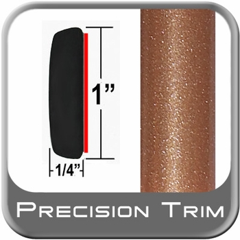"1"" Wide Copper Molding Trim ( PT80 ), Sold by the Foot, Precision Trim® # 11100-80-01"