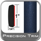"1"" Wide Deep Blue Metallic Molding Trim ( CP58 ), Sold by the Foot, Precision Trim® # 11100-64"