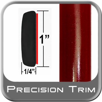 "1"" Wide Medium Red Metallic Molding Trim ( CP23 ), Sold by the Foot, ColorTrim Plastics® # 50-23"