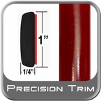"1"" Wide Salsa Red Molding Trim 3Q3 ( CP39 ), Sold by the Foot, ColorTrim Plastics® # 50-39"