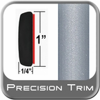 "1"" Wide Silver Metallic Molding Trim 1D6 ( PT22 ), Sold in 24' rolls, Precision Trim® # 1124-22"