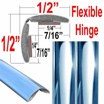 "1"" Wide (split) Chrome Chrome Flexible Molding Sold by the Foot, Cowles® # 37-795"