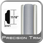 "11/16"" Wide Silver Molding Trim ( PT22 ), Sold by the Foot, Precision Trim® # 3100-22-01"