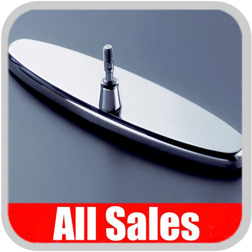 """1955-1957 Chevy Rear View Mirror 8"""" Long Oval Design Smooth Finish Style Brushed Aluminum Sold Individually All Sales #95557"""