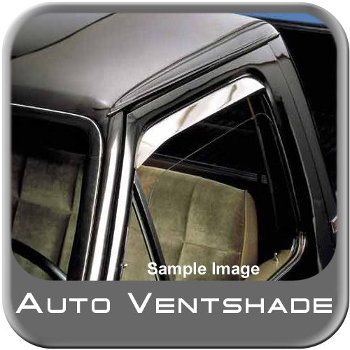 Dodge Van Rain Guards / Wind Deflectors 1976-1997 Ventshade Stainless Steel Front Pair Auto Ventshade AVS #12030