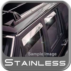 Buick LeSabre Rain Guards / Wind Deflectors 1986-1991 Ventshade Stainless Steel 4-piece Set Auto Ventshade AVS #14122