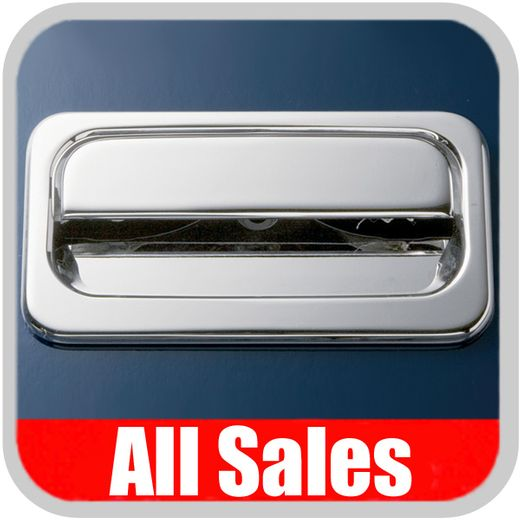 1988-1998 GMC Truck Tailgate Handle Lever & Bucket Handle & Bucket Assembly Bright Chrome Finish Smooth Design 2-Pieces All Sales #923C
