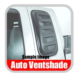 Ford F250 Truck Side Window Covers 1992-1996 Aeroshade Smoked Acrylic, Paintable Louvered Style 2-piece Set Auto Ventshade AVS #83457
