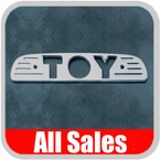 1993-1998 Toyota T100 Third Brake Light Cover Brushed Aluminum Finish w/ TOY Cutout Sold Individually All Sales #74001