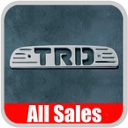 1993-1998 Toyota T100 Third Brake Light Cover Brushed Aluminum Finish w/ TRD Cutout Sold Individually All Sales #74003