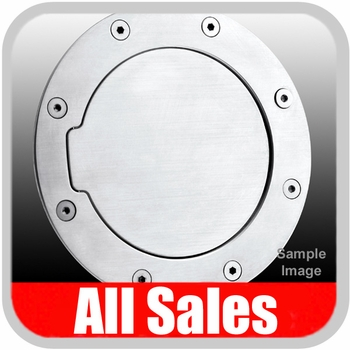 1993-2002 Chevy S10 Blazer Fuel Door Non-Locking Style Billet Aluminum, Brushed Aluminum Finish Sold Individually All Sales #6093