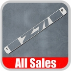 1994-1998 Chevy Truck Third Brake Light Cover Brushed Aluminum Finish w/ Z71 Cutout Sold Individually All Sales #94008