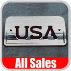1994-2003 Chevy S10 Truck Third Brake Light Cover Brushed Aluminum Finish w/ USA Cutout Sold Individually All Sales #94406