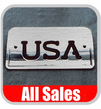 1994-2003 Chevy S10 Truck Third Brake Light Cover Brushed Aluminum Finish w/ USA Cutout Sold Individually All Sales #94406X