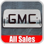 1994-2003 GMC S15 Sonoma Third Brake Light Cover Brushed Aluminum Finish w/ GMC Cutout Sold Individually All Sales #94007