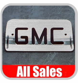 1994-2003 GMC S15 Sonoma Third Brake Light Cover Brushed Aluminum Finish w/ GMC Cutout Sold Individually All Sales #94007X