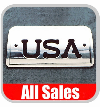 1994-2003 GMC S15 Sonoma Third Brake Light Cover Polished Aluminum Finish w/ USA Cutout Sold Individually All Sales #94406P