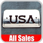 1994-2003 GMC S15 Sonoma Third Brake Light Cover Polished Aluminum Finish w/ USA Cutout Sold Individually All Sales #94406XP
