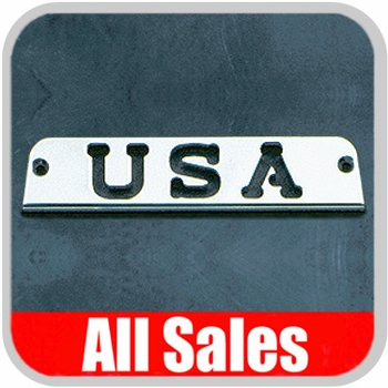 1994-2006 Jeep Wrangler Third Brake Light Cover Polished Aluminum Finish w/ USA Cutout Sold Individually All Sales #31400P