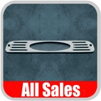 1994-2008 Ford Ranger Third Brake Light Cover Brushed Aluminum Finish Oval Cutout Design Sold Individually All Sales #54006