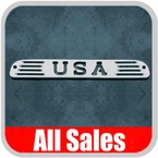 1994-2008 Ford Ranger Third Brake Light Cover Brushed Aluminum Finish w/ USA Cutout Sold Individually All Sales #54406