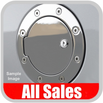 1995-2001 Dodge Ram Truck Fuel Door Locking Style Billet Aluminum, Chrome Finish Sold Individually All Sales #6040CL