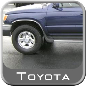 Toyota 4Runner Running Board End Cap 1996-2002 Driver Side Front Black For models with Toyota black/chrome wheel arch moldings only Sold Individually Genuine Toyota #00228-35966-DF