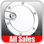 1996-2003 Ford F150 Truck Fuel Door Locking Style Billet Aluminum, Chrome Finish Sold Individually All Sales #6050CL
