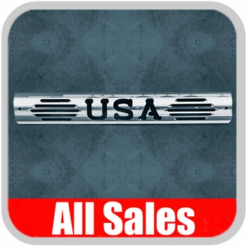1997-2003 Ford F150 Truck Third Brake Light Cover Polished Aluminum Finish w/ USA Cutout Sold Individually All Sales #54404P