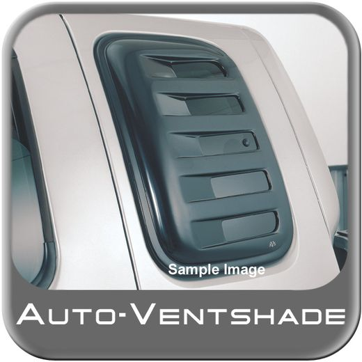 Ford F250 Truck Side Window Covers 1997-2003 Aeroshade Smoked Acrylic, Paintable Louvered Style 2-piece Set Auto Ventshade AVS #83410