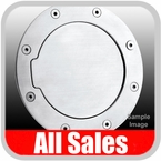 1997-2006 Jeep Wrangler Fuel Door Non-Locking Style Billet Aluminum, Brushed Aluminum Finish Sold Individually All Sales #6031