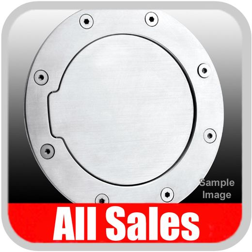 1999-2004 Ford Mustang Fuel Door Non-Locking Style Billet Aluminum, Brushed Aluminum Finish Sold Individually All Sales #6051