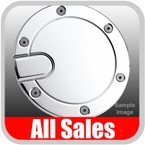 1999-2004 Ford Mustang Fuel Door Non-Locking Style Billet Aluminum, Chrome Finish Sold Individually All Sales #6051C