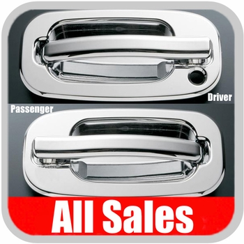 1999-2006 Chevy Truck Door Handle Levers & Buckets Driver & Passenger Sides w/Driver Side Lock Hole Only Chrome Finish 4-Pieces All Sales #901C