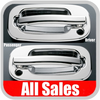 1999-2006 Chevy Truck Door Handle Levers & Buckets Driver & Passenger Sides w/Lock Holes Chrome Finish 4-Pieces All Sales #900C