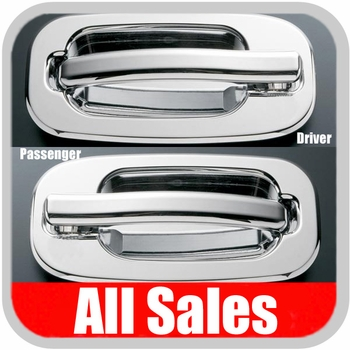 1999-2006 GMC Yukon Door Handle Levers & Buckets Driver & Passenger Sides w/No Lock Holes Polished Aluminum 4-Pieces All Sales #902