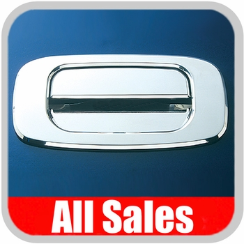 1999-2007 Chevy Truck Tailgate Handle Lever & Bucket Handle & Bucket Assembly Bright Chrome Finish Smooth Design 2-Pieces All Sales #903C