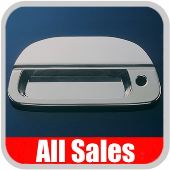1999-2007 Ford F350 Truck SuperDuty Tailgate Handle Lever & Bucket Handle & Bucket Assembly Polished Aluminum Finish Smooth Design w/Keyhole 2-Pieces All Sales #503L