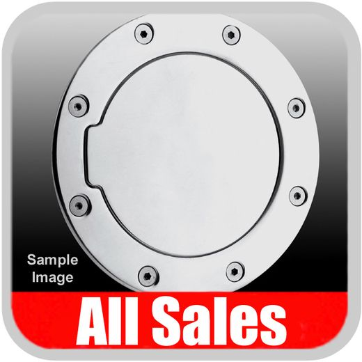 1999-2007 GMC Truck Fuel Door Non-Locking Style Billet Aluminum, Polished Aluminum Finish Sold Individually All Sales #6090P