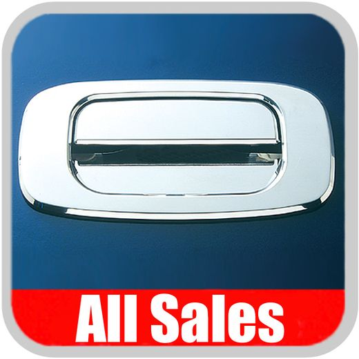 1999-2007 GMC Truck Tailgate Handle Lever & Bucket Handle & Bucket Assembly Bright Chrome Finish Smooth Design 2-Pieces All Sales #903C