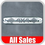 1999-2007 GMC Truck Third Brake Light Cover Polished Aluminum Finish w/ 4 X 4 Cutout Sold Individually All Sales #94014P