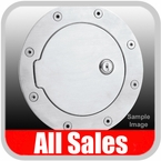 1999-2010 Ford F350 Truck SuperDuty Fuel Door Locking Style Billet Aluminum, Brushed Aluminum Finish Sold Individually All Sales #6050L