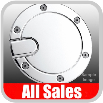 1999-2010 Ford F350 Truck SuperDuty Fuel Door Non-Locking Style Billet Aluminum, Chrome Finish Sold Individually All Sales #6050C