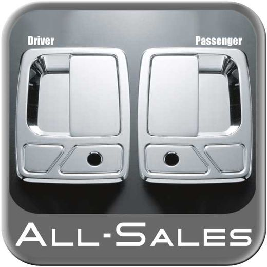 1999-2014 Ford F250 Truck SuperDuty Door Handle Levers & Buckets Driver & Passenger Sides w/Lock Holes Chrome Finish 4-Pieces All Sales #510C