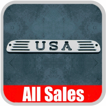 1999-2012 Ford F350 Truck Third Brake Light Cover Brushed Aluminum Finish w/ USA Cutout Sold Individually All Sales #54406