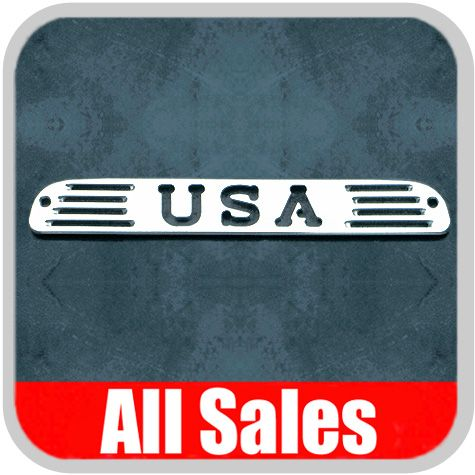 1999-2012 Ford F350 Truck Third Brake Light Cover Polished Aluminum Finish w/ USA Cutout Sold Individually All Sales #54406P